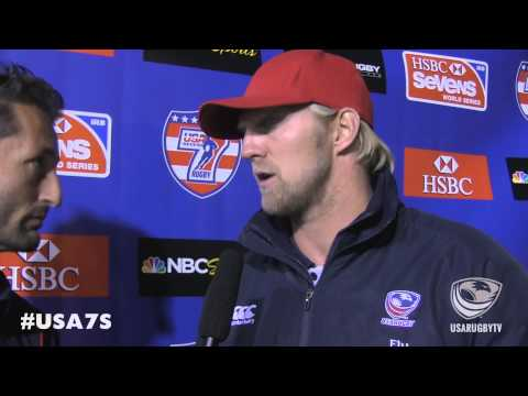 Coach Hawkins post game vs. France - 2014 USA Sevens--Las Vegas