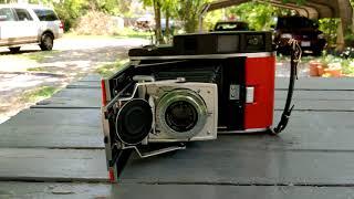 Polaroid 110A/B with Fuji 210 Instax Wide Film Back