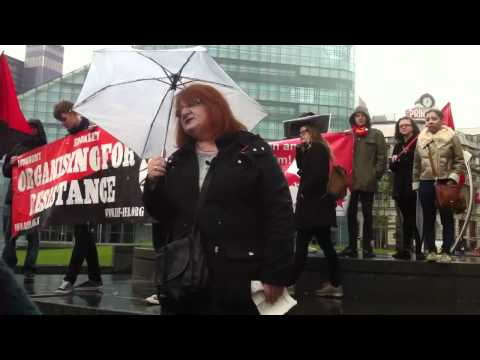 Angry heckler at Manchester May Day 2012