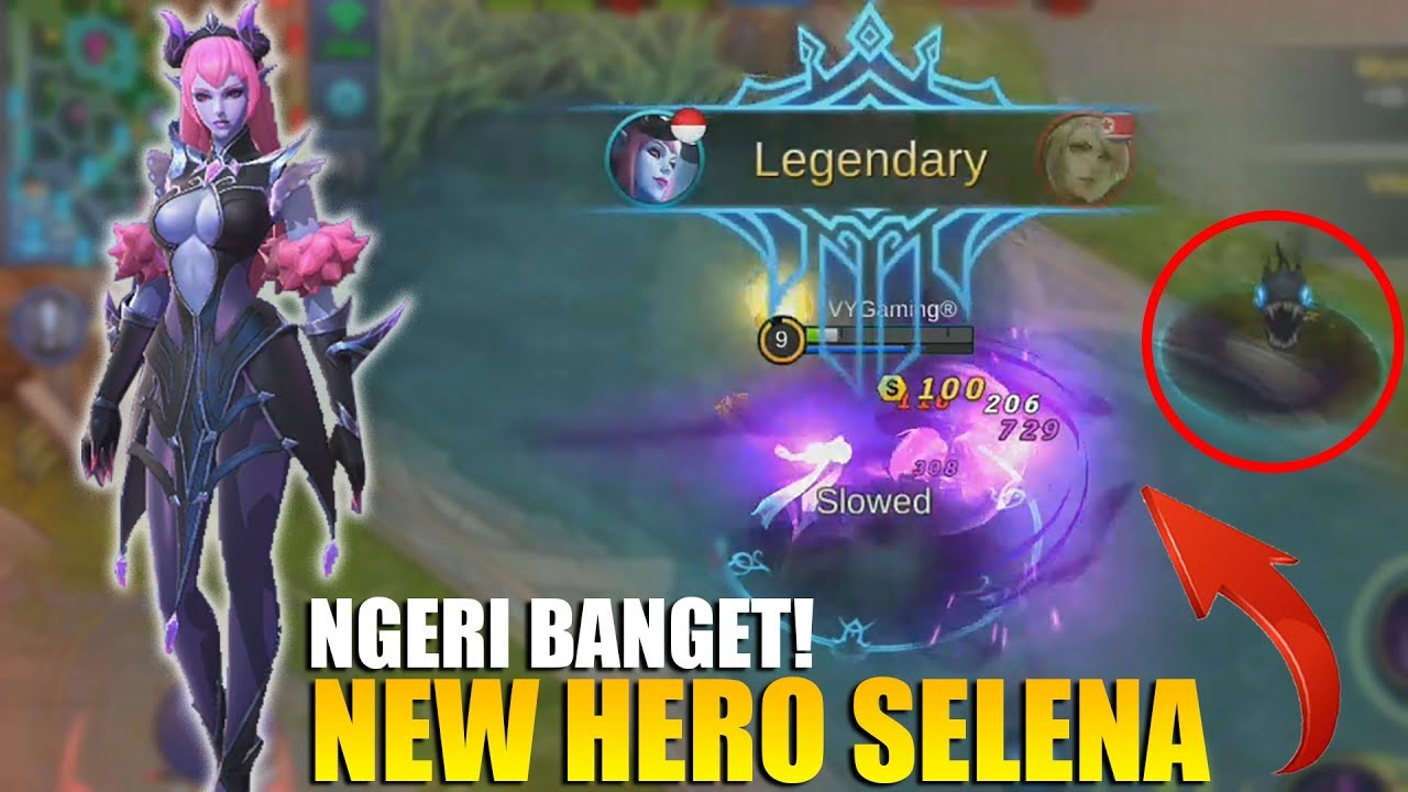NEW HERO SELENA - NGERI BANGET SKILLNYA! BISA BERUBAH JADI 2 KARAKTER (Mobile Legends)