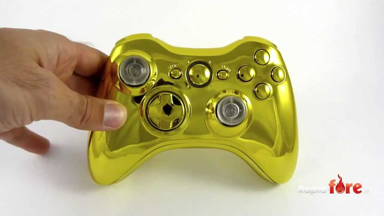 manette full gold xbox 360 exclusivement sur rapid. Black Bedroom Furniture Sets. Home Design Ideas