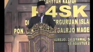Bp K.H Abdul Rozaq di P4SK Tegalrejo Magelang 2015 Part 3