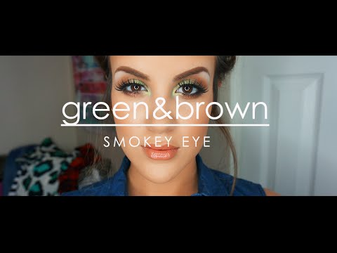 Green & Brown Smokey Eye