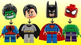 Superhero Legos with Avengers Ironman, Batman, Superman & Hulk