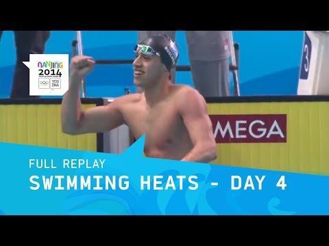Swimming - Day 4 Morning Heats | Full Replay | Nanjing 2014 Youth Olympic Games