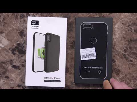 iPhone X and iPhone 8 Plus Battery Cases Unboxing and First Impressions