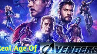Avengers endgame male characters real NAME and AGE