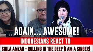Indonesians React To SHILA AMZAH - Rolling In The Deep (I Am a Singer)