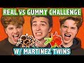 REAL FOOD VS GUMMY FOOD CHALLENGE! (ft. Martinez Twins) | Cha...