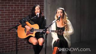 Megan & Liz cover Stay by Florida Georgia Line live in the SheKnows studio