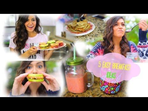 5 Easy & Fast Breakfast ideas for School!