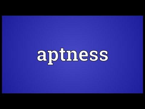 Header of aptness