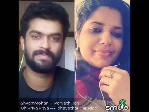 Oh Priya Priya Really Heart Touching What a Feel 😋 Awesome Combo By ShyamMohan&Parvathihari⚘😙