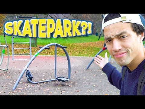 THIS GYM IS A SKATEPARK?!