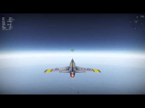 War Thunder - 1.37 HB F-86 F-2 over Mach 1