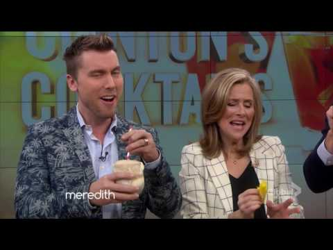 Clinton Kelly - with Lance Bass part #2 (adult cocktail drinks) - Meredith vieira show 2016