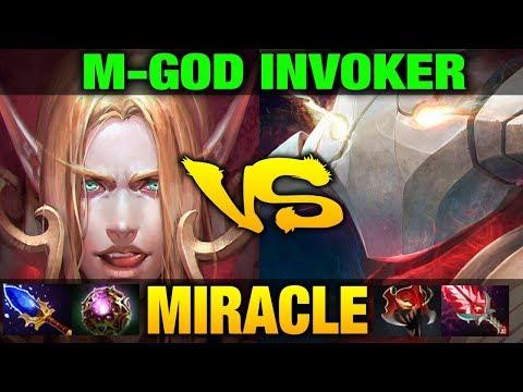 Miracle- Mgod Invoker VS Sven Full Items - Just One Mistake Dota 2