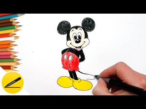 How to draw a mouse step by step easy