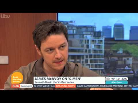 James McAvoy on Good Morning Britain (May 12th 2014)