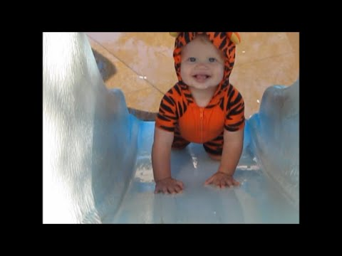 Do babies like water parks? Ours does!! Watch Michael and his siblings as they enjoy an afternoon at a free water park we took them to. Although this video m...