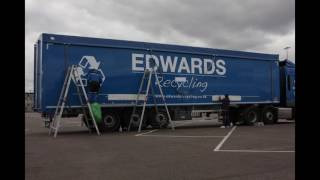 Becontree Signs Projects: hgv graphics installation time lapse