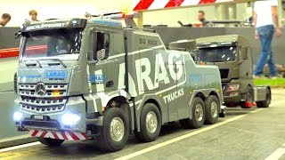 UNIQUE RC TRUCK-TOW I RC HAULING AWAY I BIG MODEL TRUCK SHOW I IG M.B & T I LARAG SWISS