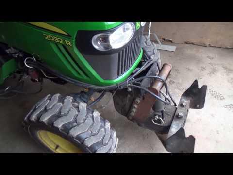 Indoor Tractor change over to Mower mode