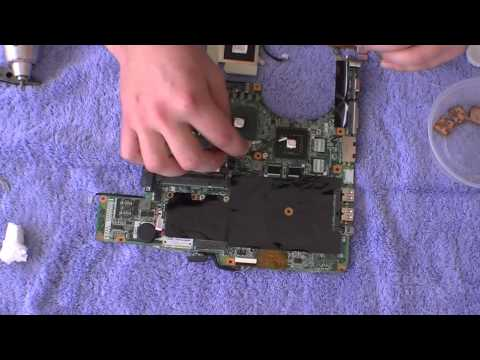 HP Pavilion DV9000 Series Laptop Display Repair - GPU BGA Reflow PART 2