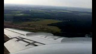 Tupolev 134 approach, landing and taxi