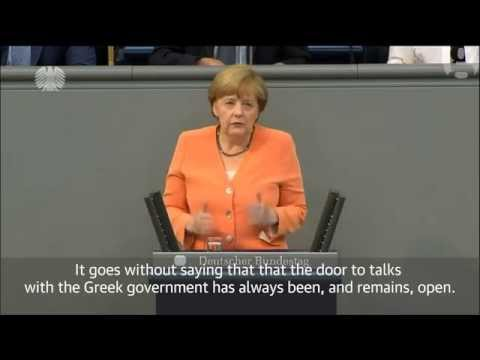 No talks on Greek bailout before referendum - Angela Merkel