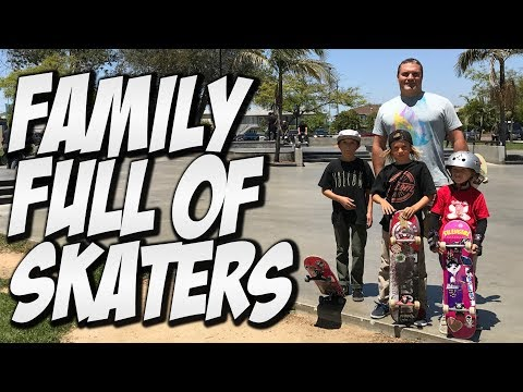 FAMILY FULL OF SKATERS !!!! - A DAY WITH NKA -
