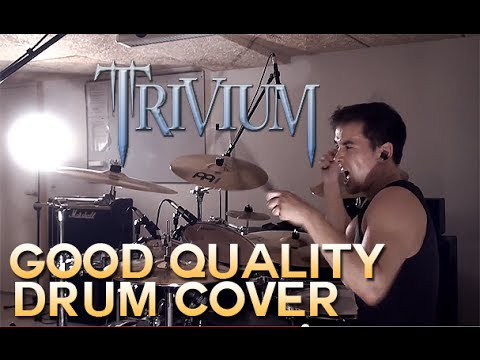 Trivium - Strife - Drum Cover (with foot cam) thumbnail
