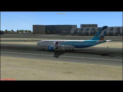 FSX qatar airways a330-200 takeoff from dubai