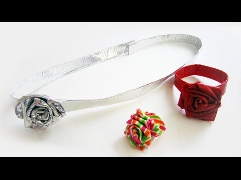 How to make duct tape rose accessories
