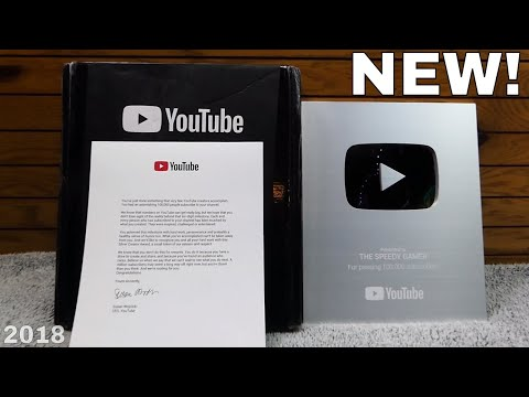 *NEW* SILVER PLAY BUTTON!! Thank You