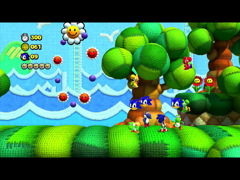 Sonic Lost World Yoshi's Island Free DLC Playthrough