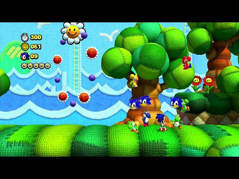 Sonic Lost World Yoshi's Island Free DLC Playthrough