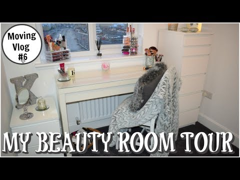 Beauty Room Tour/My New Makeup Room - Moving Vlog #6