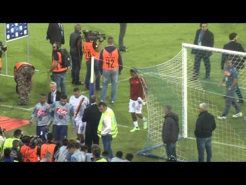 Napoli-Roma 2-0 01-11-2014 Finale Partita Live in HD dalla Curva B