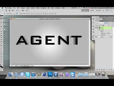 How To Make 3D Text In Photoshop (CS4 + CS5)