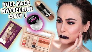 Full Face Using Only MAYBELLINE Products 🤔 | MAYBELLINE Drogerie One Brand Makeup | Hatice Schmidt