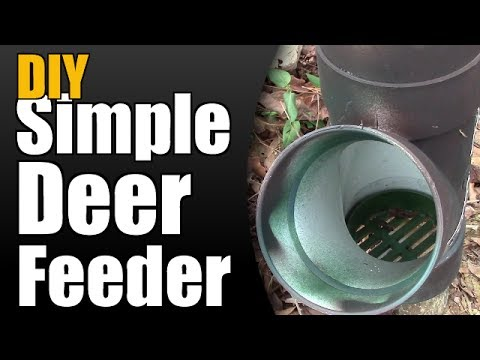 DIY Simple Deer Feeder - YouTube