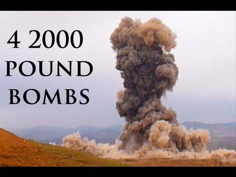4 2000 POUND BOMBS EXPLODING IN AFGHANISTAN