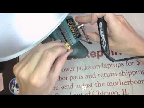 How to repair z710 20250 ideapad lenovo  broken laptop Power Jack Repair socket input port