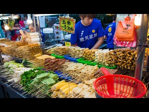 Food at Ningxia Night Market & Wistaria Tea House (Taiwan Day 8)