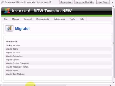 Migrating Your Joomla! 1.0 Content to Joomla! 1.5 - 2 of 2