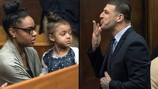 Aaron Hernandez trial Heartbreaking scene as 4 year old daughter shows up to court