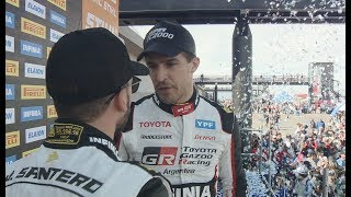 Ordenes de equipo en Toyota: ¿Qué se dijeron Rossi y Santero en el podio?