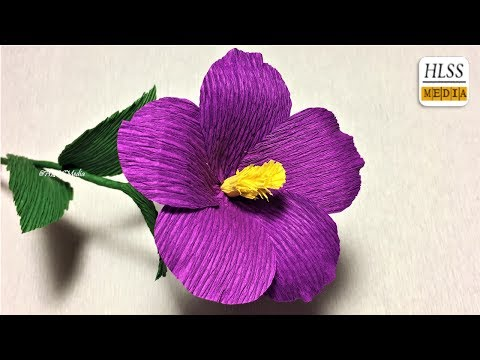 How to make nierembergia paper flower|  Nierembergia crepe paper flower making tutorials