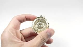 Mayan calendar in 14kt solid gold